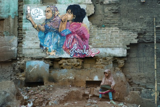 Indian artist visited Pakistan to make street art