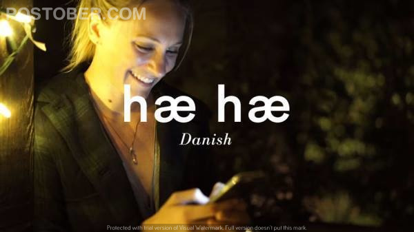 This is how people laugh in Danish