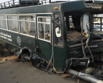 Race between university buses leaves one dead and 20 injured in Islamabad Pakistan