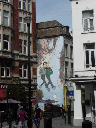 day 3: il volto più originale di Bruxelles, uno dei murales inspirati ai fumetti per le strade di Bruxelles