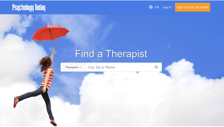 online search for therapist in your area