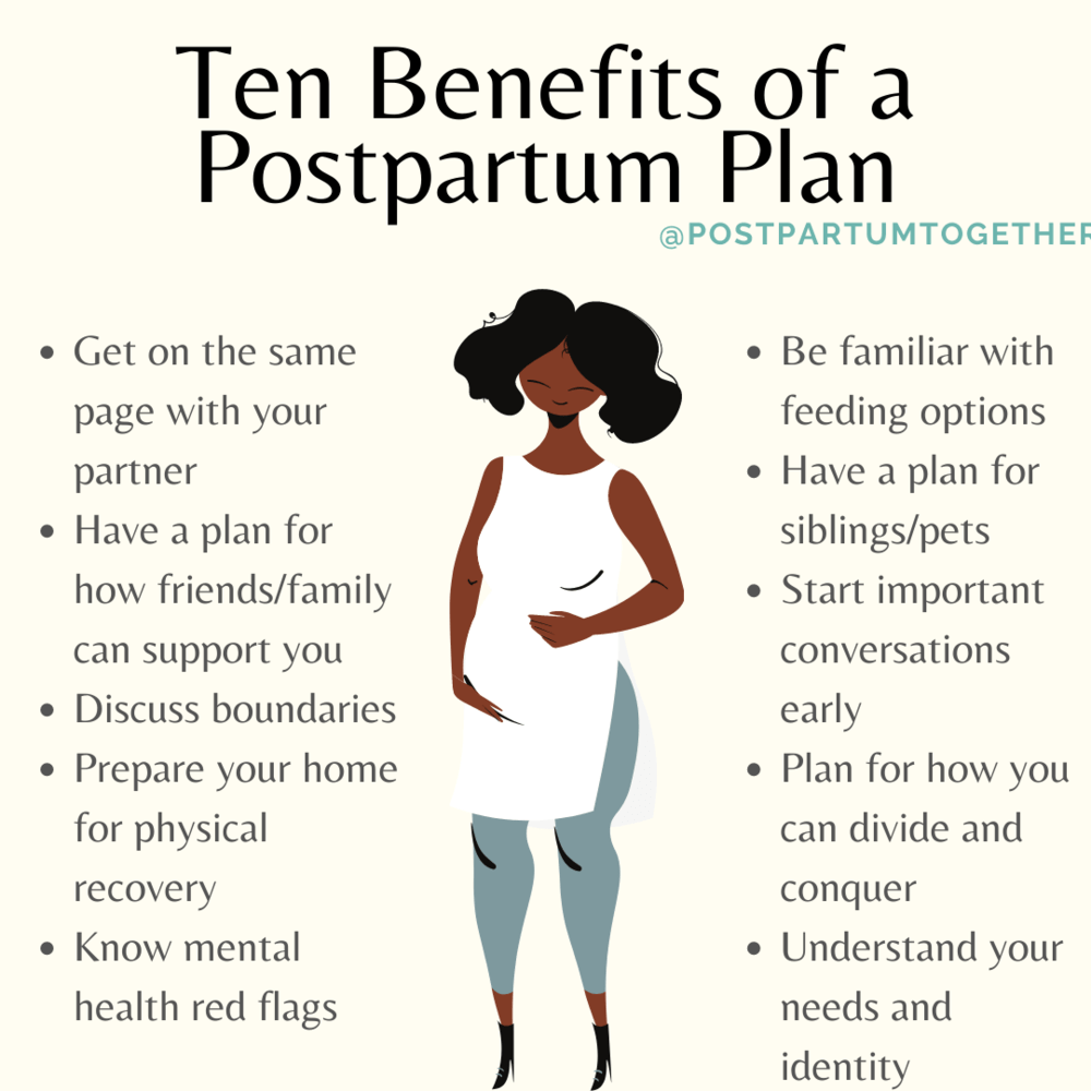 benefits of making a postpartum plan in the second trimester of pregnancy