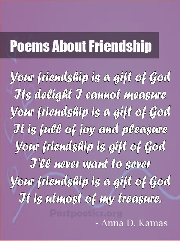 famous poems about friendship