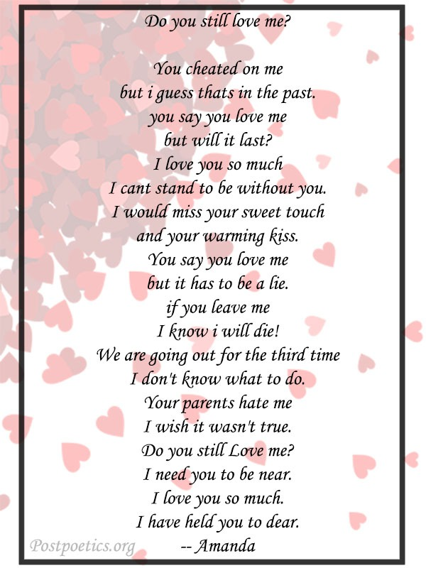 i love you poems for him