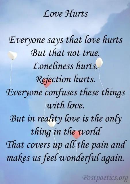 short sad poems about love