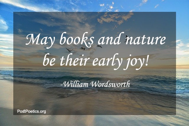 william wordsworth quotes on nature