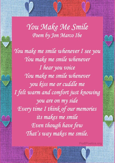 beautiful smile poetry