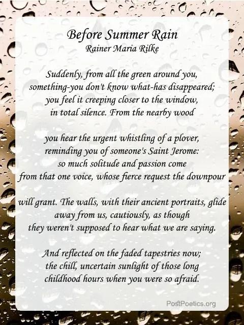 funny rain poems