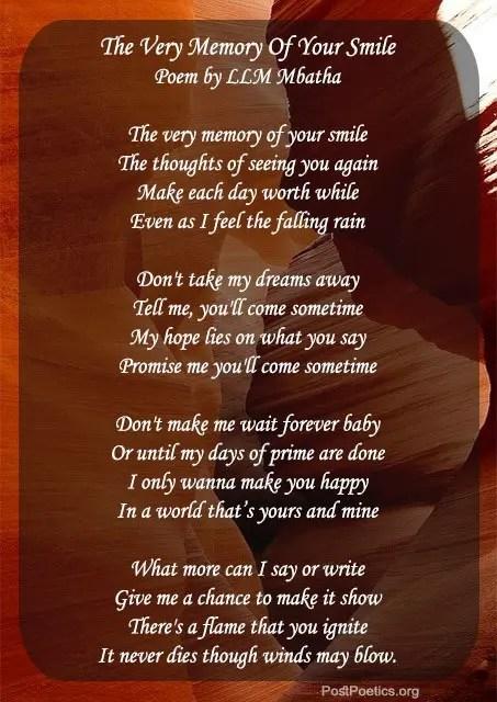 poems make your lover smile