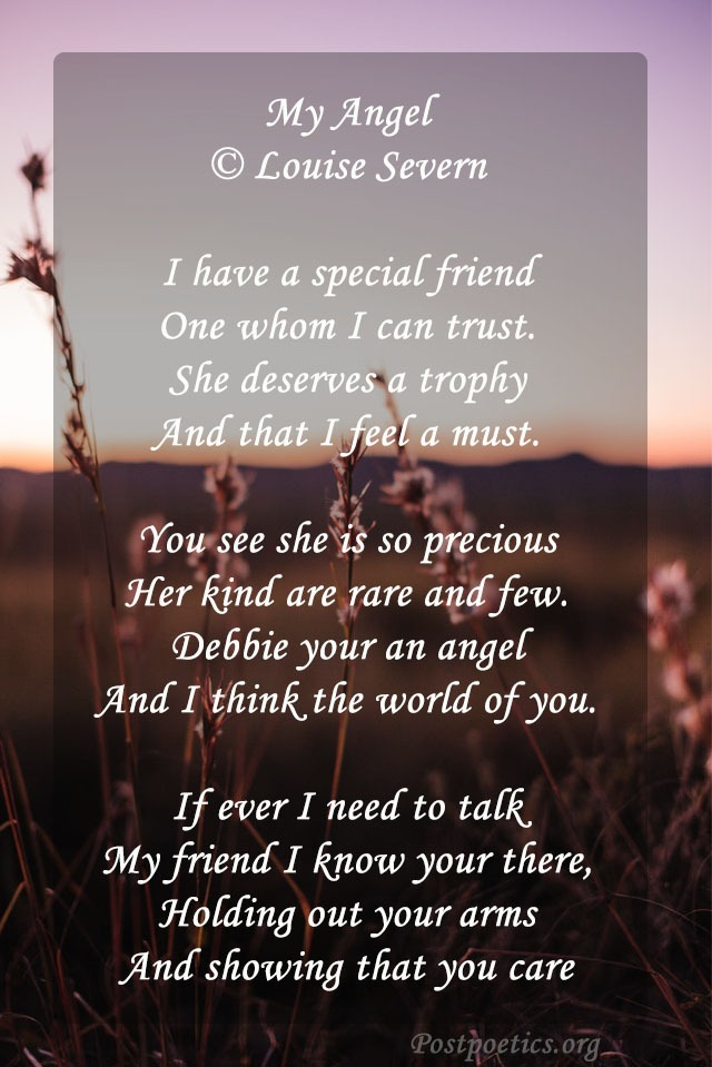 poems to make feel friend special