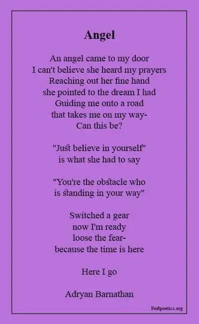Angel poems short