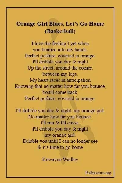 Basketball woes poem
