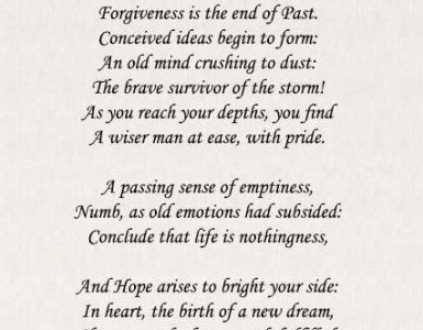 Forgiveness Poems
