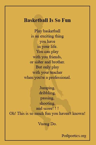 Poems about basketball