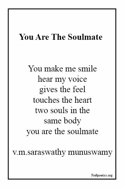 Soulmate poems for husband
