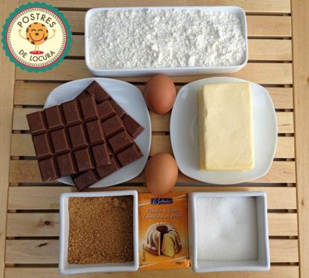 Ingredientes galletas con trocitos de chocolate