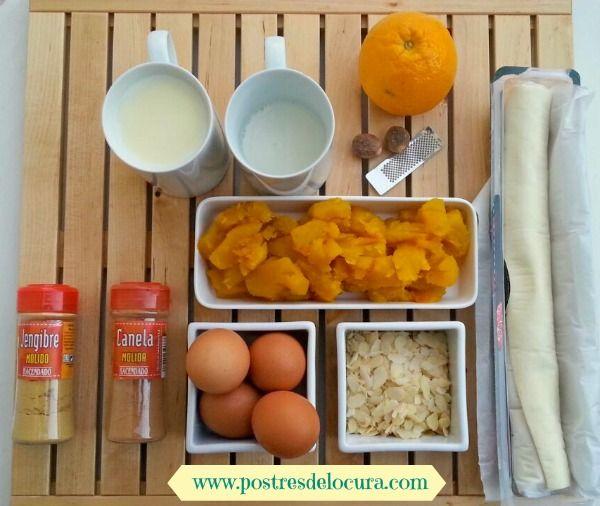 Ingredientes tarta de calabaza