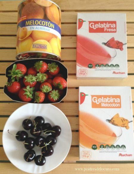 ingredientes Gelatina con fresas y melocoton