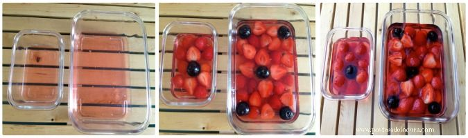 Preparacion Gelatina con fresas y melocoton