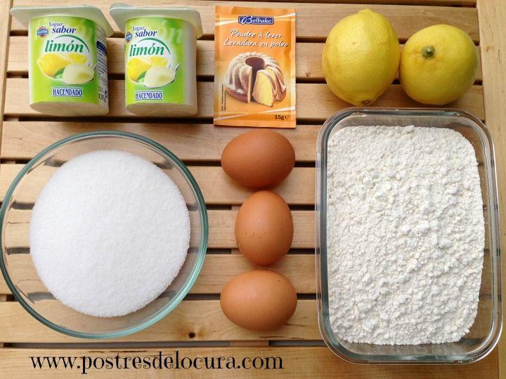ingredientes bizcocho de limon