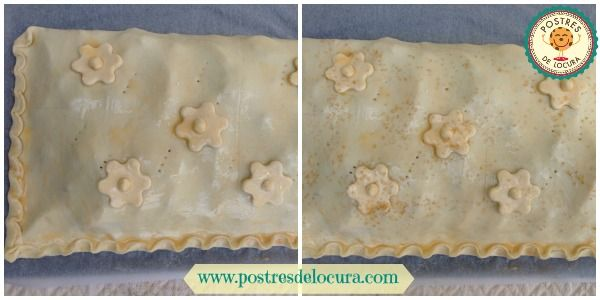 Decorando la empanada de manzana