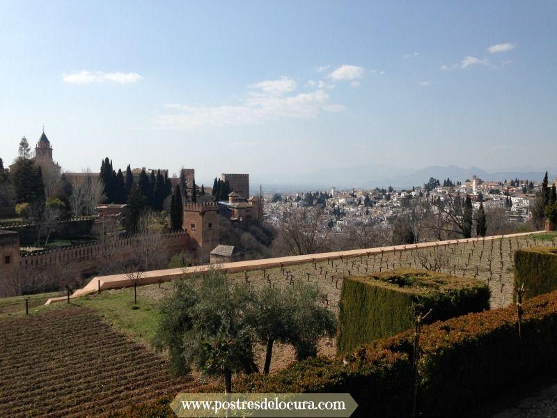 Vistas de el albaycin y la alcazaba desde los jardines