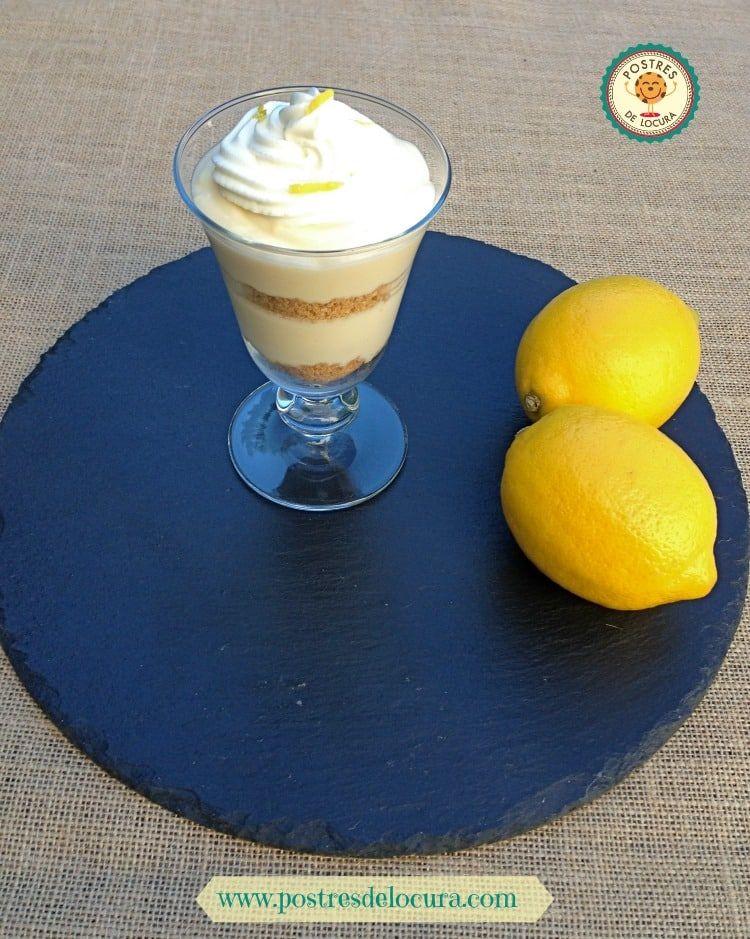 copa de pie de limon sin horno