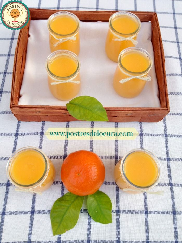 Gelatina con zumo natural de naranja y mandarina