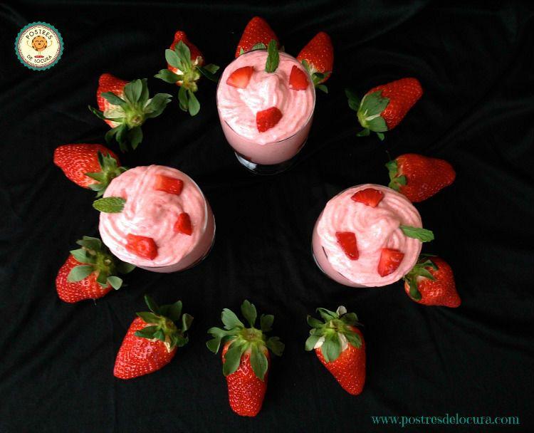 Mousse de fresas y yogur
