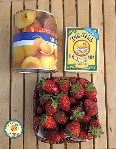 Ingredientes cobertura tarta de frutas