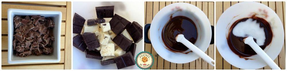 Preparacion brownies con dulce de leche