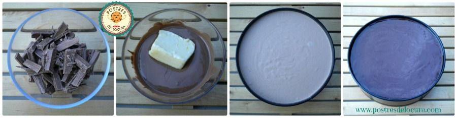 Preparacion tarta mousse de chocolate