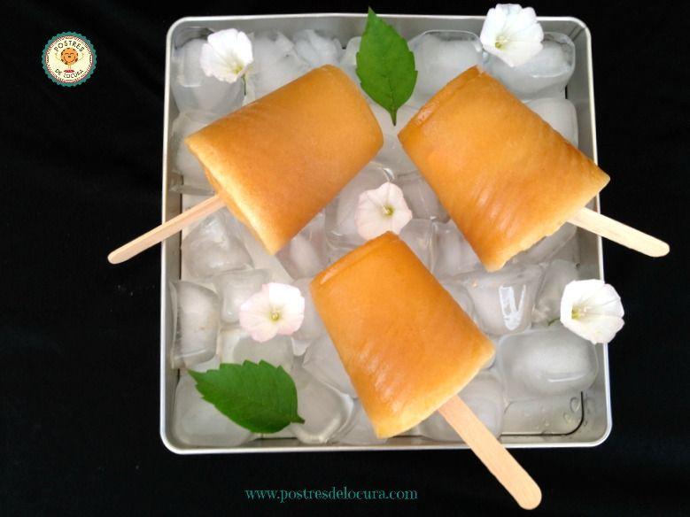 Polos de limonada de melocoton