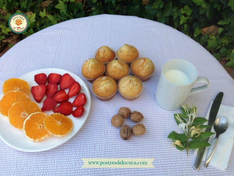 desayuno con magdalenas caseras