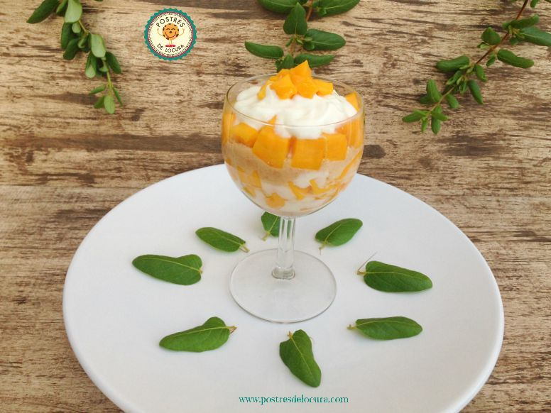 Copa de yogur y fruta