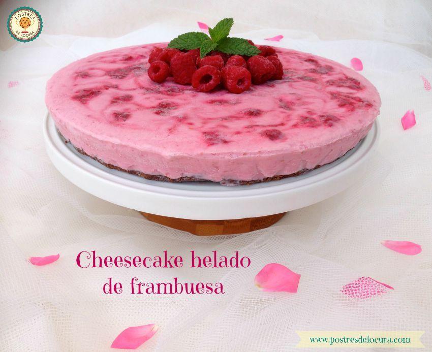 Cheesecake helado de frambuesa