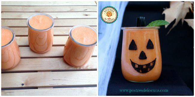 Preparacion calabazas de gelatina de naranja y zanahoria