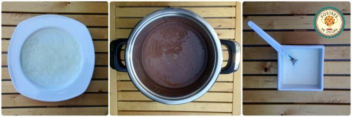 Preparacion pudin casero de chocolate 1