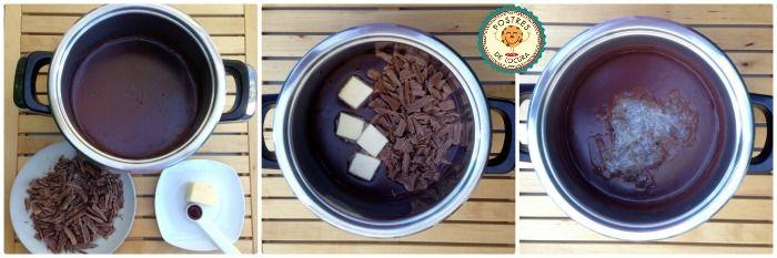 Preparacion pudin casero de chocolate 2
