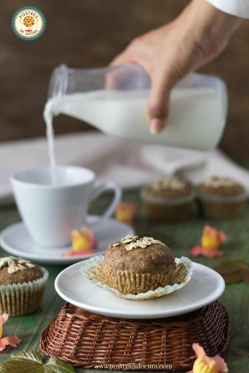 Desayuno con muffins de calabacin y manzana