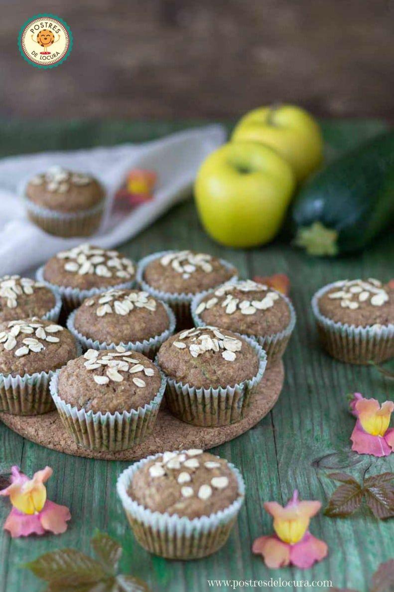 Muffins de calabacin,manzana y avena