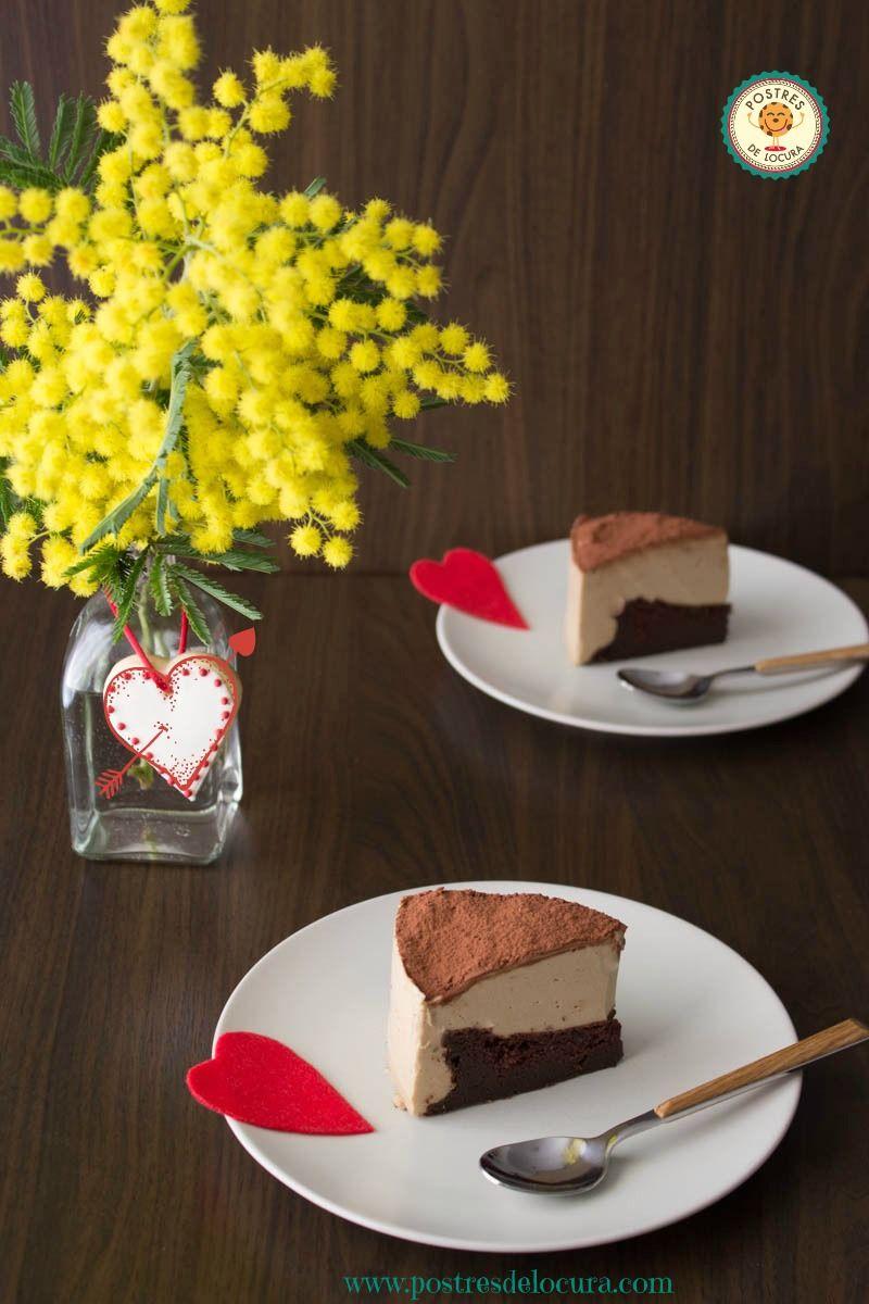Tarta mousse de cafe y bizcocho de chocolate