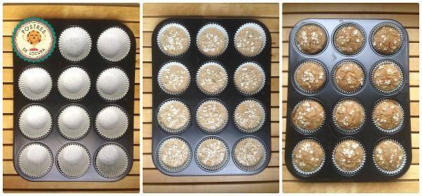Horneado muffins de calabacin y manzana