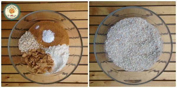 Preparacion galletas de avena y turron 1