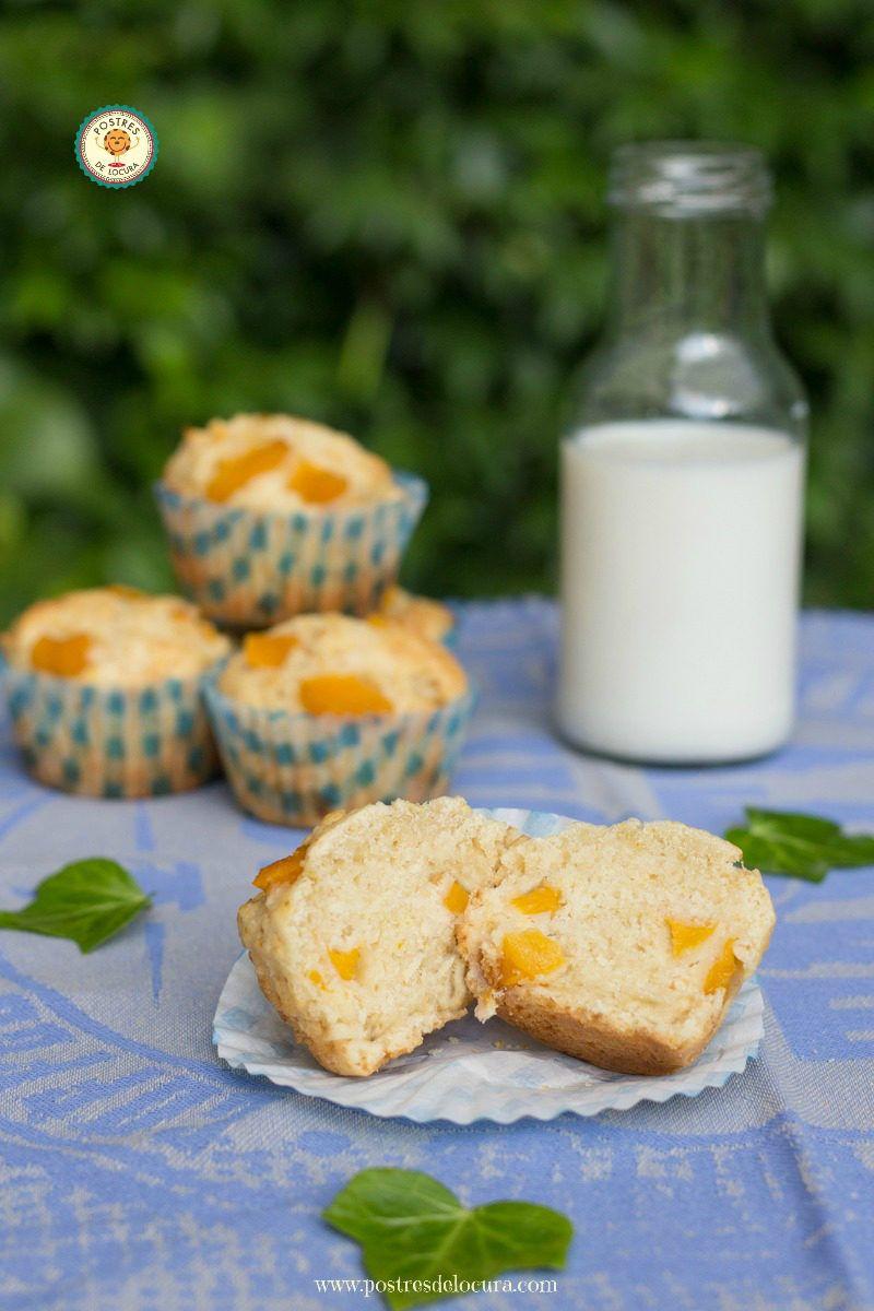 muffin-de-melocoton-partido-en-dos