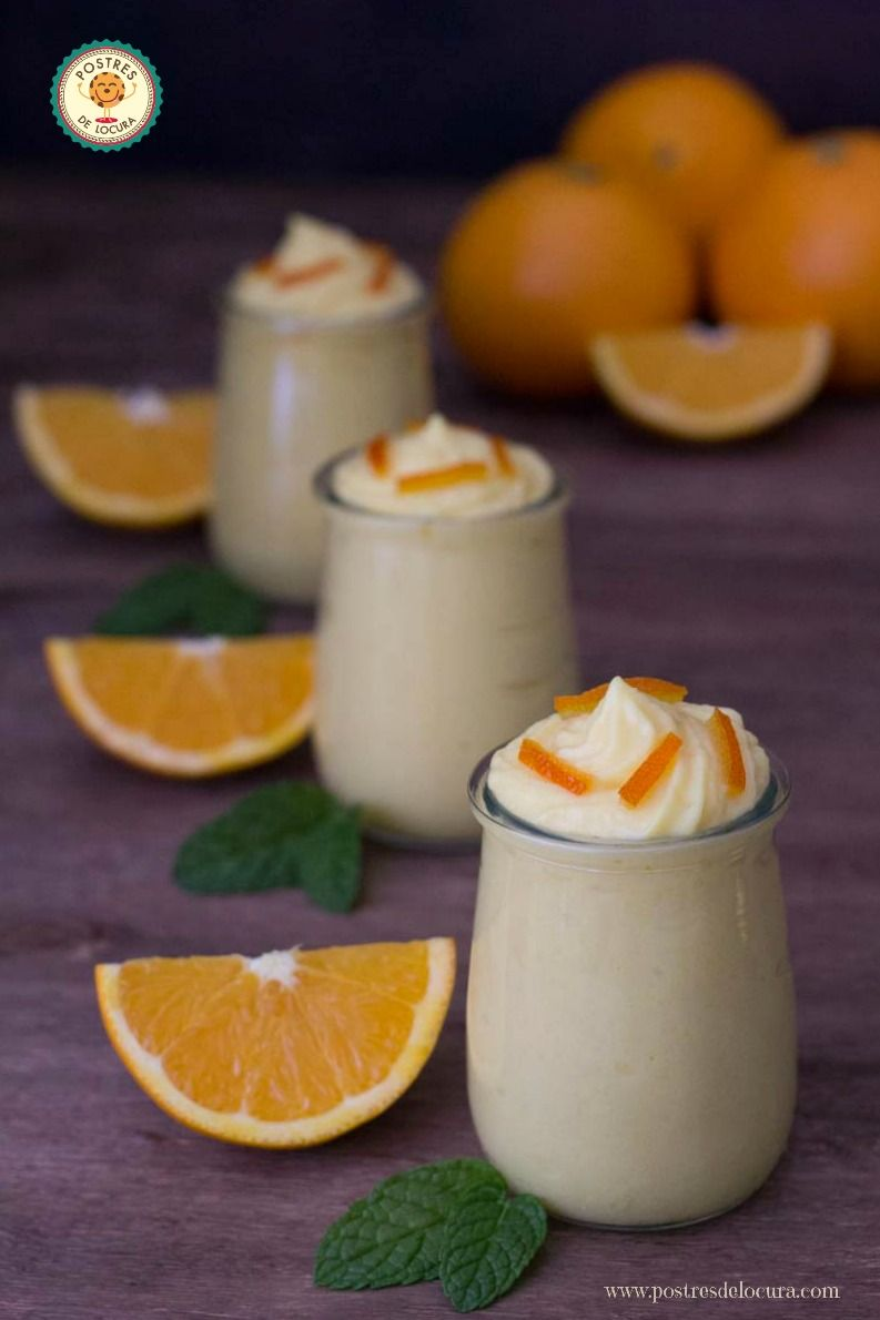 Vasitos de mousse de naranja