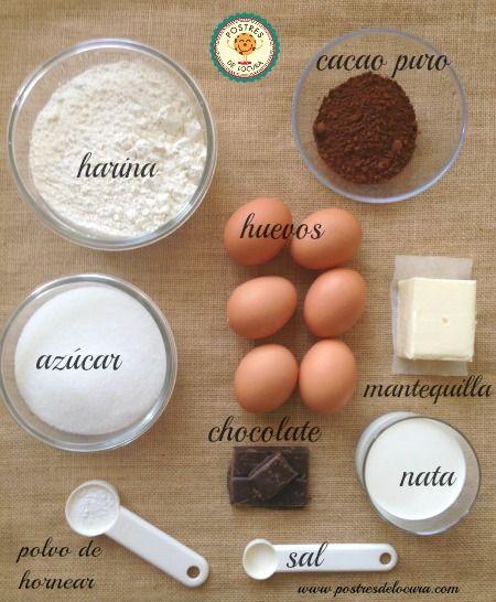 Ingredientes bizcocho de chocolate