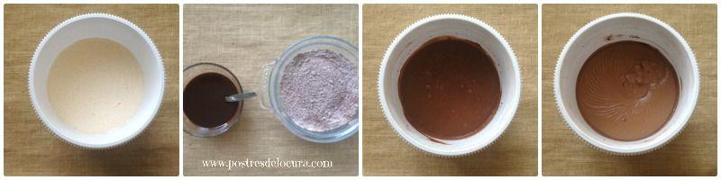 Preparacion bizcocho de chocolate