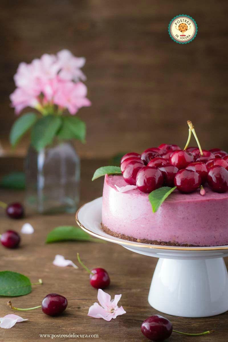 Cheesecake de cerezas sin horno