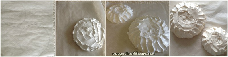 Discos merengue para pavlova